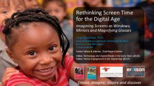 Rethinking Screen Time for the Digital Age