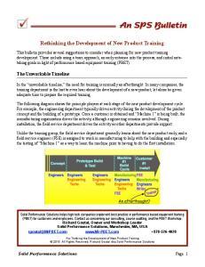 Rethinking the Development of New Product Training