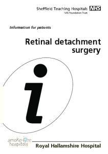 Retinal detachment surgery