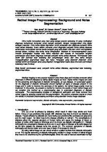 Retinal Image Preprocessing: Background and Noise Segmentation