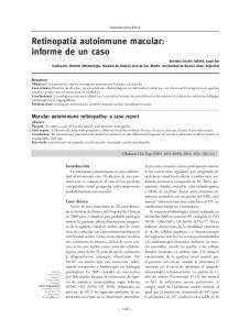 Retinopatía autoinmune macular: informe de un caso