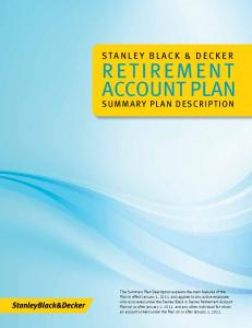 Retirement Account Plan