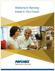 Retirement Planning Invest in Your Future