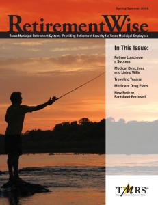 RetirementWise. In This Issue: