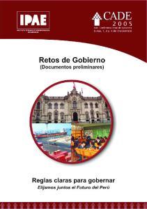 Retos de Gobierno. Lima, noviembre del 2005