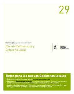 Retos para los nuevos Gobiernos locales