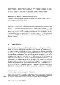 RETOS, REFORMAS Y FUTURO DEL SISTEMA NACIONAL DE SALUD