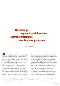Retos y oportunidades ambientales en la empresa