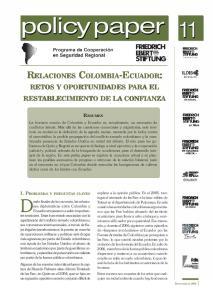 RETOS Y OPORTUNIDADES PARA EL RESTABLECIMIENTO DE LA CONFIANZA