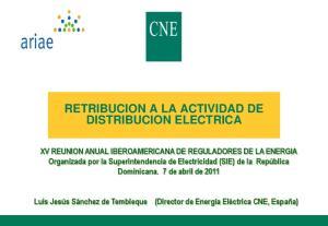 RETRIBUCION A LA ACTIVIDAD DE DISTRIBUCION ELECTRICA
