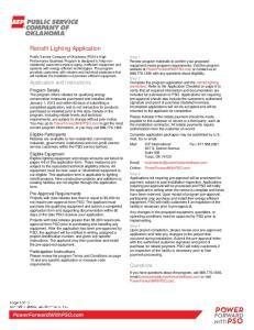 Retrofit Lighting Application