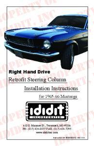 Retrofit Steering Column Installation Instructions
