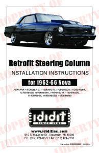 Retrofit Steering Column