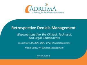 Retrospective Denials Management