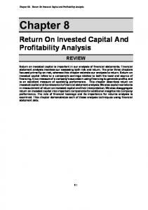 Return On Invested Capital And Profitability Analysis
