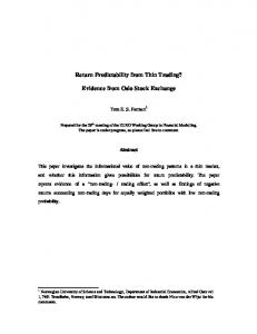 Return Predictability from Thin Trading? Evidence from Oslo Stock Exchange