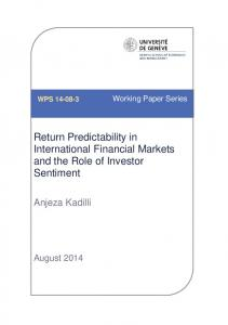Return Predictability in International Financial Markets and the Role of Investor Sentiment