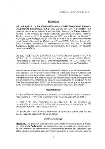 REUNIDOS. Acontecimientos Federaci6n