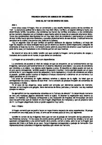 REUNION GRUPO DE AMIGOS DE DRUMMOND DIAS 28, 29 Y 30 DE ENERO DE 2000