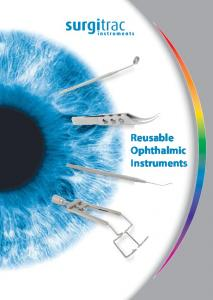 Reusable Ophthalmic Instruments