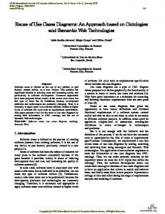 Reuse of Use Cases Diagrams: An Approach based on Ontologies and Semantic Web Technologies