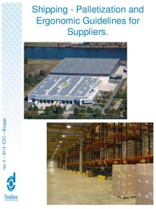 rev EDC Brugge Shipping - Palletization and Ergonomic Guidelines for Suppliers
