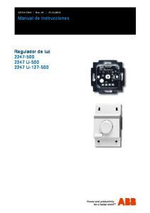 Rev Manual de instrucciones. Regulador de luz U U