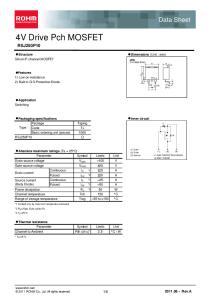Rev.A. Dimensions (Unit : mm) Structure Silicon P-channel MOSFET