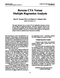 Reverse CTA Versus Multiple Regression Analysis