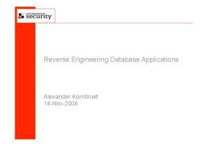 Reverse Engineering Database Applications