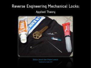 Reverse Engineering Mechanical Locks: