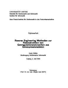 Reverse Engineering Methoden zur Rekonstruktion von Genregulationsnetzwerken aus Genexpressionsdaten
