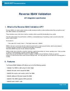 Reverse IBAN Validation