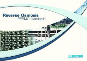 Reverse Osmosis. PERMO standards