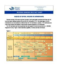 REVERSE OSMOSIS (RO) FACT SHEET
