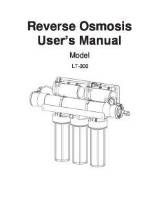 Reverse Osmosis User s Manual