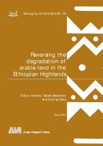Reversing the degradation of arable land in the Ethiopian Highlands