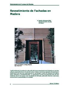 Revestimiento de Fachadas en Madera