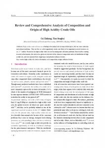 Review and Comprehensive Analysis of Composition and Origin of High Acidity Crude Oils
