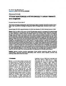 Review Article Infrared spectroscopy and microscopy in cancer research and diagnosis