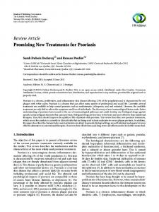 Review Article Promising New Treatments for Psoriasis
