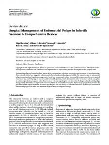 Review Article Surgical Management of Endometrial Polyps in Infertile Women: A Comprehensive Review