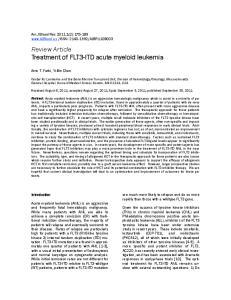 Review Article Treatment of FLT3-ITD acute myeloid leukemia