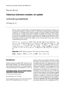 Review Article. Tuberous sclerosis complex: an update. Introduction. TS Cheng