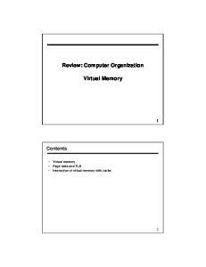 Review: Computer Organization. Virtual Memory