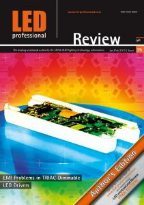 Review. EMI Problems in TRIAC Dimmable LED Drivers.  LpR