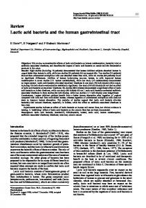 Review Lactic acid bacteria and the human gastrointestinal tract