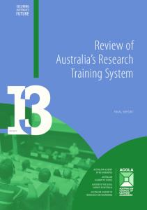 Review of Australia s Research Training System