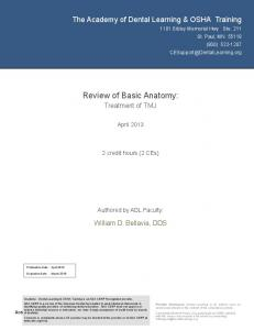 Review of Basic Anatomy: