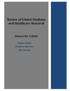 Review of Global Medicine and Healthcare Research